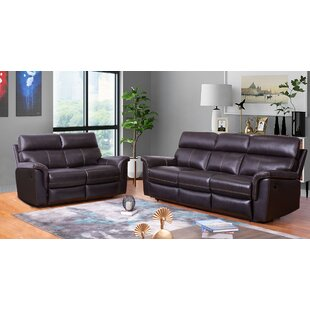 Where buy  Paden 2 Piece Leather Reclining Living Room Set (Set of 2) by Red Barrel Studio Reviews (2019) & Buyer's Guide