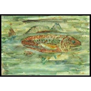 Abstract Fish Doormat