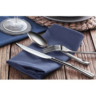 Rain II 36 Piece 18/10 Stainless Steel Flatware Set, Service for 12