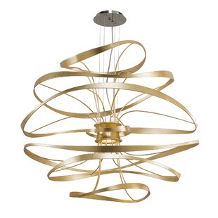 Calligraphy 4-Light Geometric Chandelier by Corbett Lighting