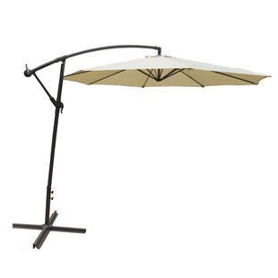Freeport Park Stanley Adjustable Outdoor Garden/Patio Hanging 10' Cantilever Umbrella