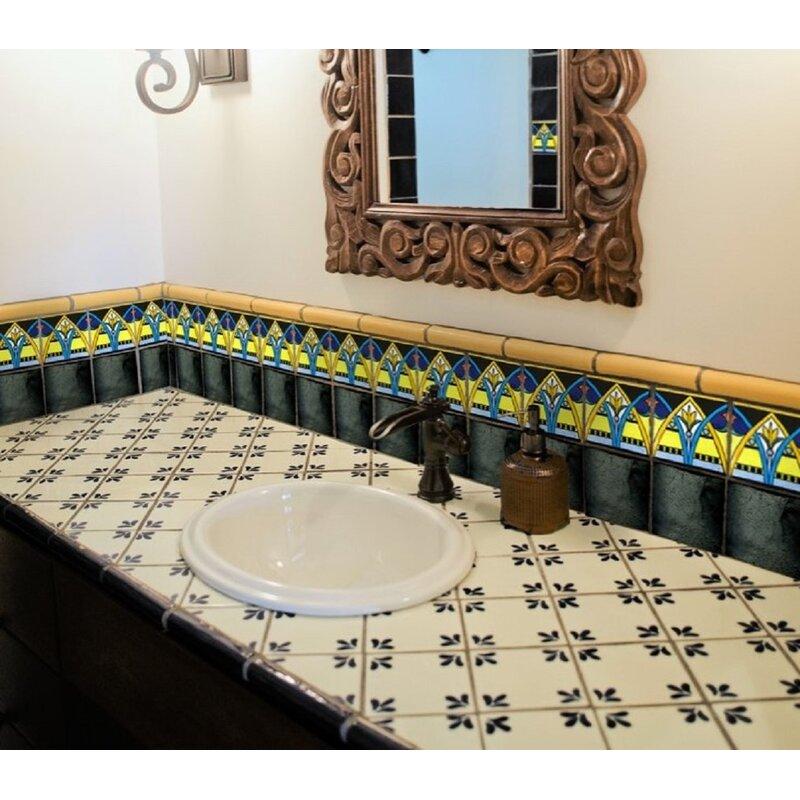 Rustico Tile Stone 6 X 6 Ceramic Specialty Trim In Black Wayfair