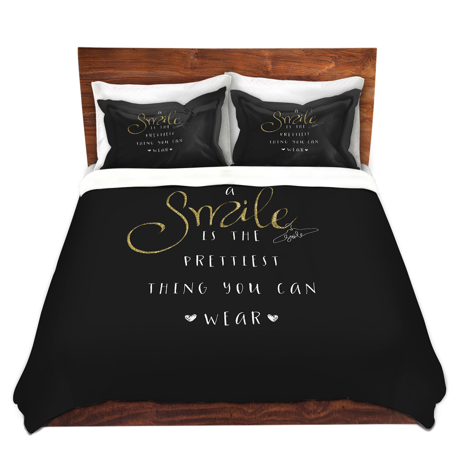 Red Barrel Studio Marchese Zara Martina A Smile Sparkle Duvet Cover Set Wayfair