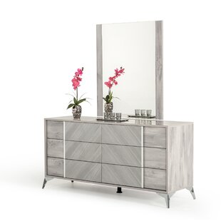 Marisol 6 Drawer Dresser with Mirror