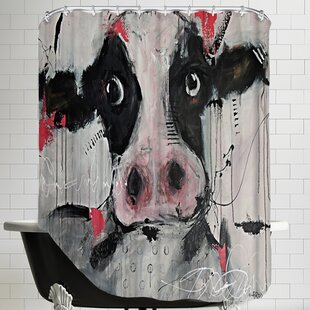 Find Cow Pink Shower Curtain ByEast Urban Home