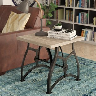 17 Stories Winona Industrial End Table