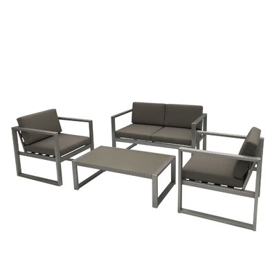 JOLIET 4 PIECE SOFA SET WITH CUSHIONS