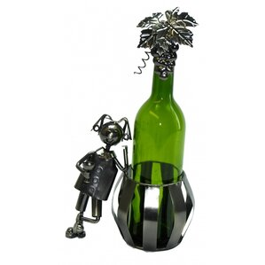 Man and Barrel 1 Bottle Tabletop Wine Rack by Three Star Im/Ex Inc.