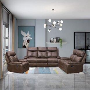 Vilonia Reclining 3 Piece Living Room Set By Red Barrel Studio