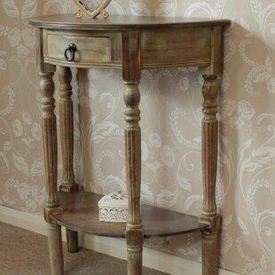 half table for hallway. Conchita Wooden Half Moon Side Table For Hallway