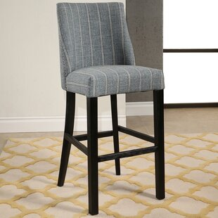 Rouet Pinstripe 30.5 Bar Stool Gracie Oaks