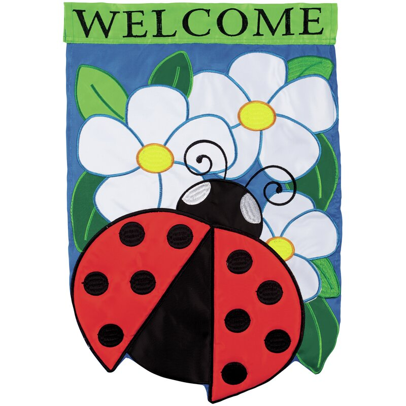 Carson Home Accents Ladybug Welcome 2 Sided Polyester 18 X 13 In Garden Flag Wayfair