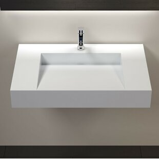 Clearance Polymarble 31 Wall Mount Bathroom Sink By Badeloft