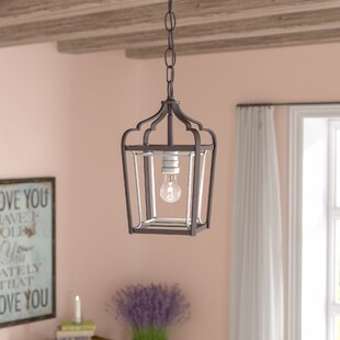 Price comparison Evangeline 1-Light Foyer Pendant By Laurel Foundry Modern Farmhouse