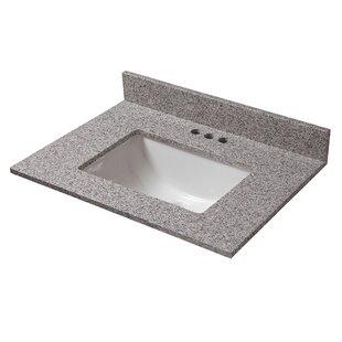 Reviews Granite 25 Single Bathroom Vanity Top ByCahaba