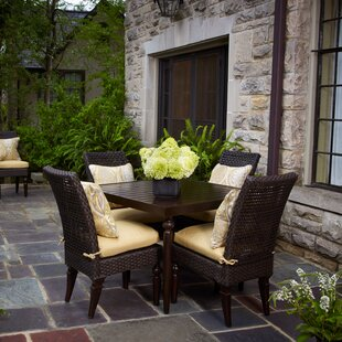 Peak Season Inc. Somerby 5 Piece Sunbrella Dining Set with Cushions