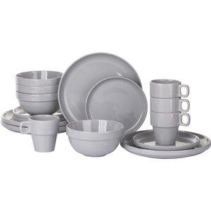 Stacking 16 Pieces Dinnerware Set