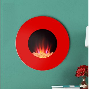 Laurent Custom Designer Wall Mounted Electric Fireplace By Orren Ellis