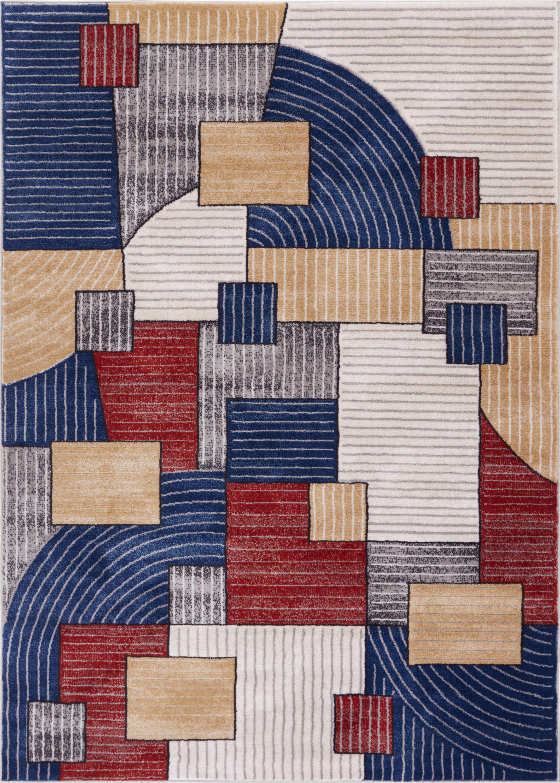 Ebern Designs Devanna Mid Century Modern Geometric Area Rug
