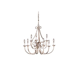 Dover 9-Light Candle-Style Chandelier by Kichler