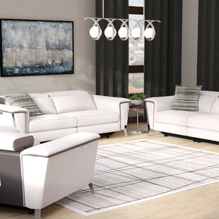 Baccus Reclining 3 Piece Leather Living Room Set