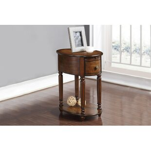 Alcott Hill Seger Chair End Table with Po..