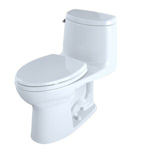 Toto Ultramax II 1.28 GPF (Water Efficient) Elongated One-Piece Toilet with Glazed Surface (Seat Included)
