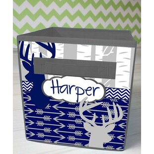 Read Reviews Deer Personalized Fabric Bin ByToad and Lily