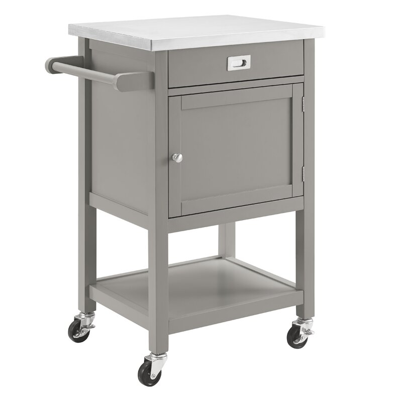 Exceptionnel Eira Kitchen Cart With Stainless Steel Top