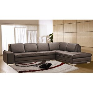 Bender Leather Sectional by Wade Logan