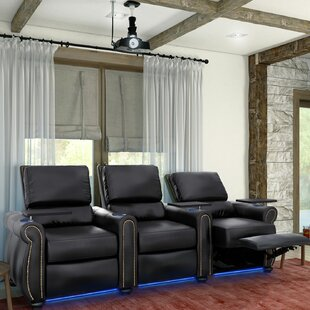 Home Theater Row Seating (Row of 3) by Red Barrel Studio
