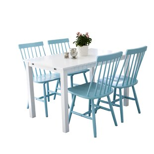 Nehls Dining Set With 4 Chairs By 17 Stories