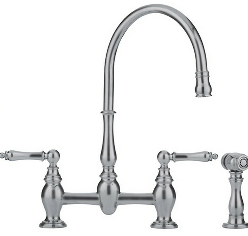 Franke Farmhouse Double Handle Kitchen Faucet With Side Spray Reviews Wayfair