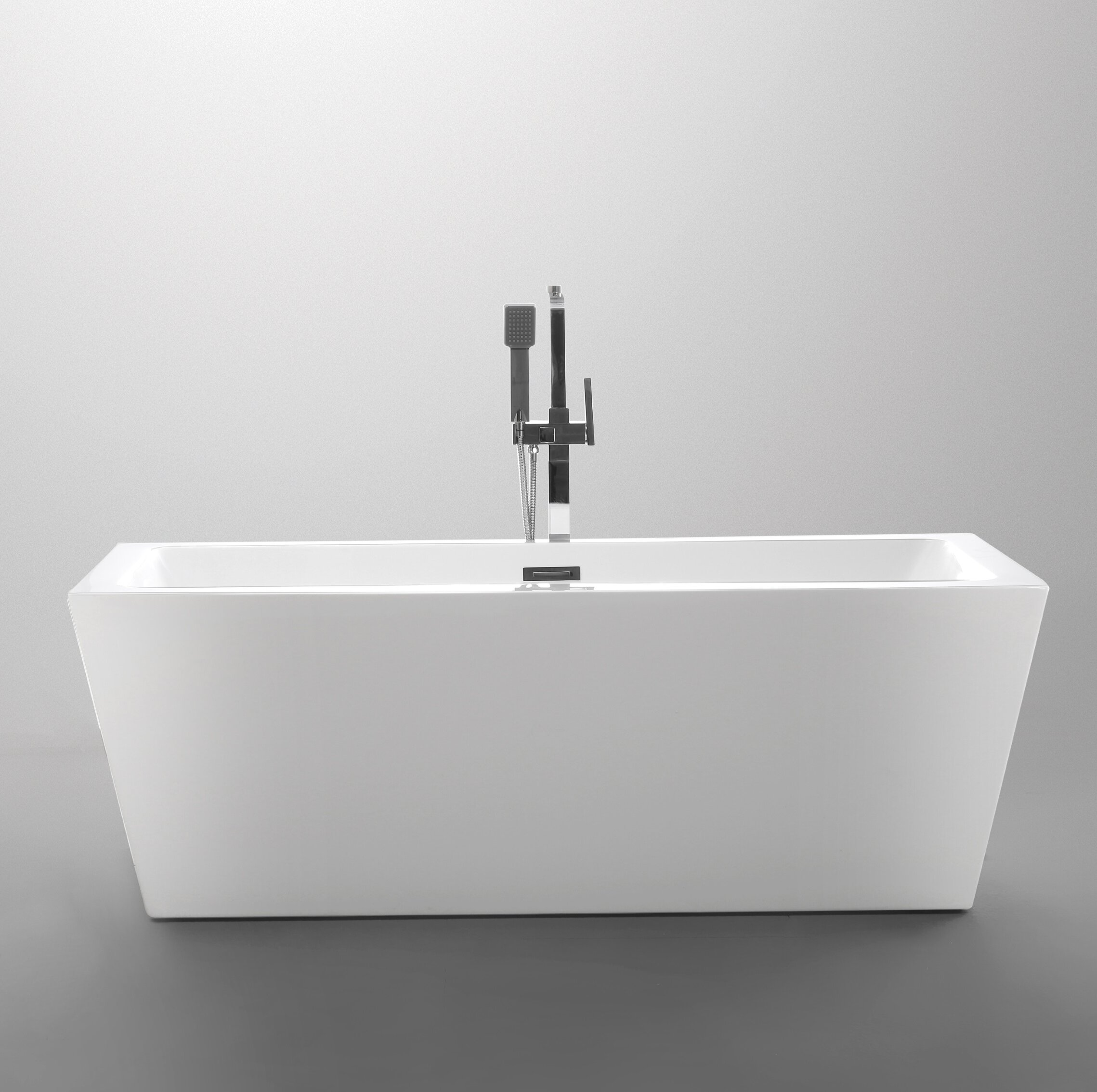 freestanding bathtub product today acrylic shipping inch home overstock soaking vanity art garden free