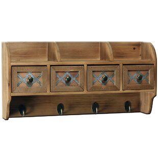 Ingrid Wall Mounted Coat Rack With Drawers By Alpen Home