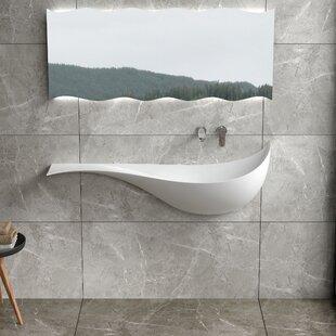 Bargain Mermaid Stone 47 Wall Mount Bathroom Sink By InFurniture
