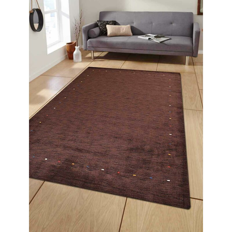 Union Rustic Maggiemae Handmade Tufted Wool Brown Area Rug Wayfair