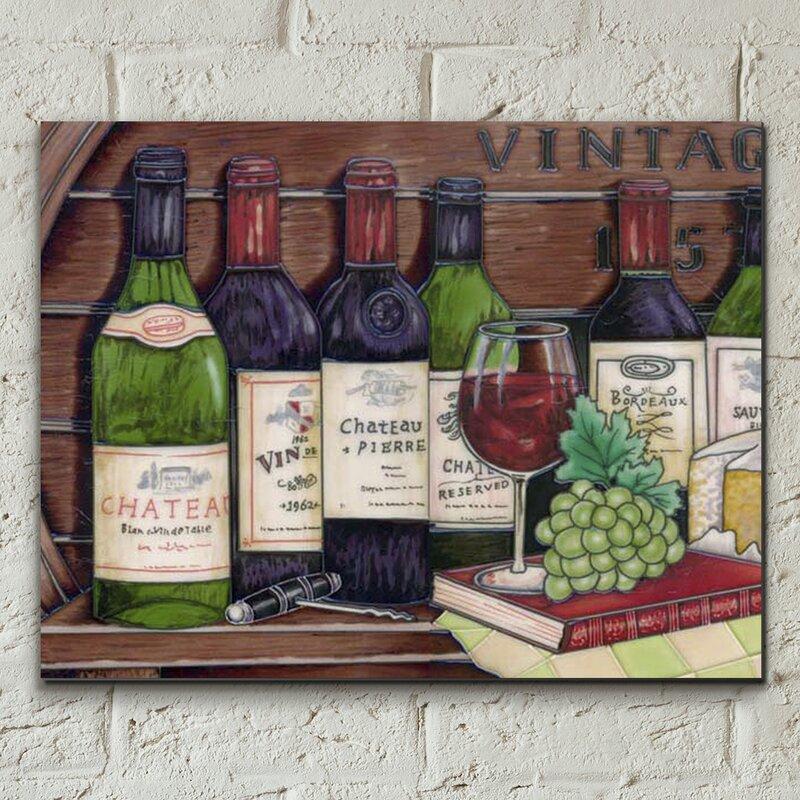 Castleton home wanddekoration vintage wine collection for Wanddekoration vintage