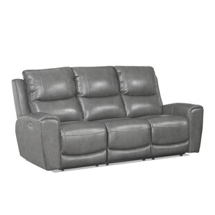 Shop Palmateer Leather Reclining Sofa by Red Barrel Studio