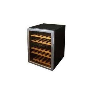 37 Bottle Dual Zone Freestanding Wine Cooler by Soleus Air