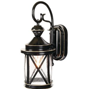 Langport 1 Light Black Outdoor Wall Lantern