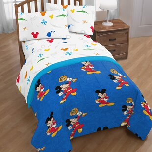 Mickey Mouse Trophy Twin Sheet Set