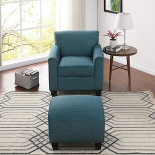 Comfortable Chair Throughout Quickview Comfortable Chair With Ottoman Wayfair