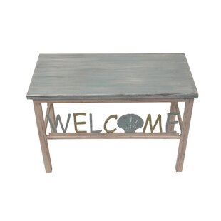 Highland Dunes Inglesbatch Multi Shell Welcome Wood Bench
