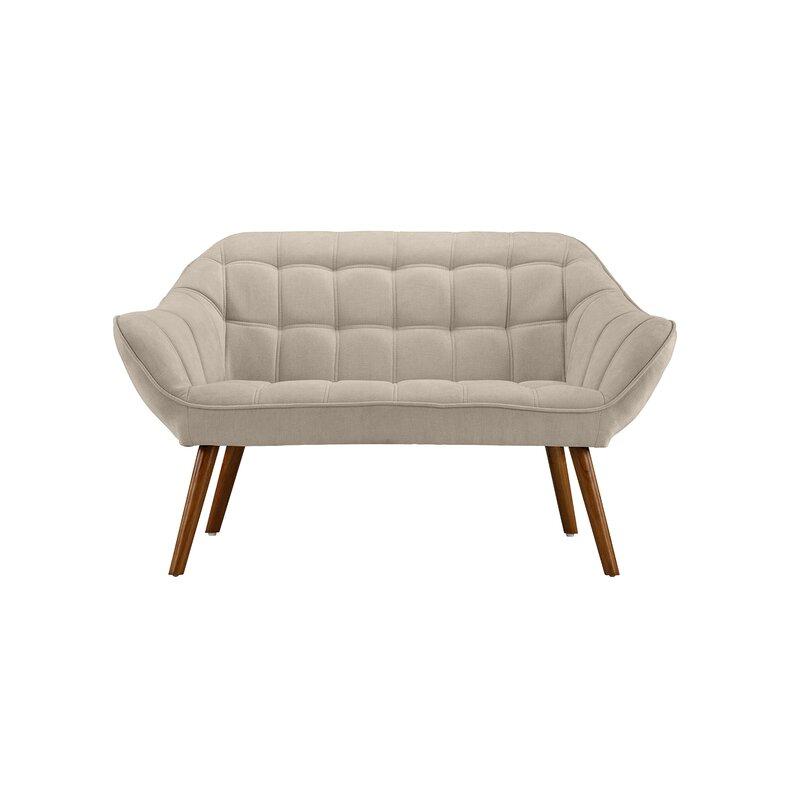 Turn on the Brights  Herrald Modern Tufted Loveseat Upholstery: Beige