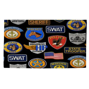 Find for Police Patches Area Rug ByManual Woodworkers & Weavers