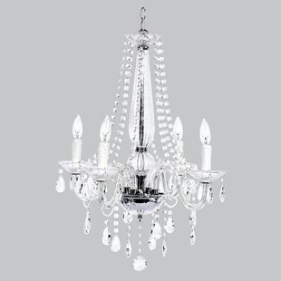 Jubilee Collection Middleton Glass 4-Light Candle Style Chandelier