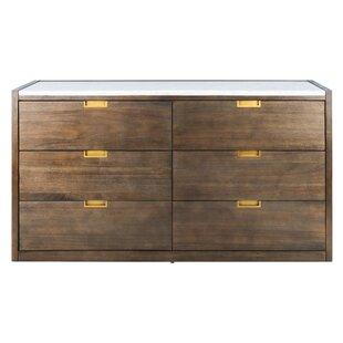 Jeanie 6 Drawer Standard Dresser