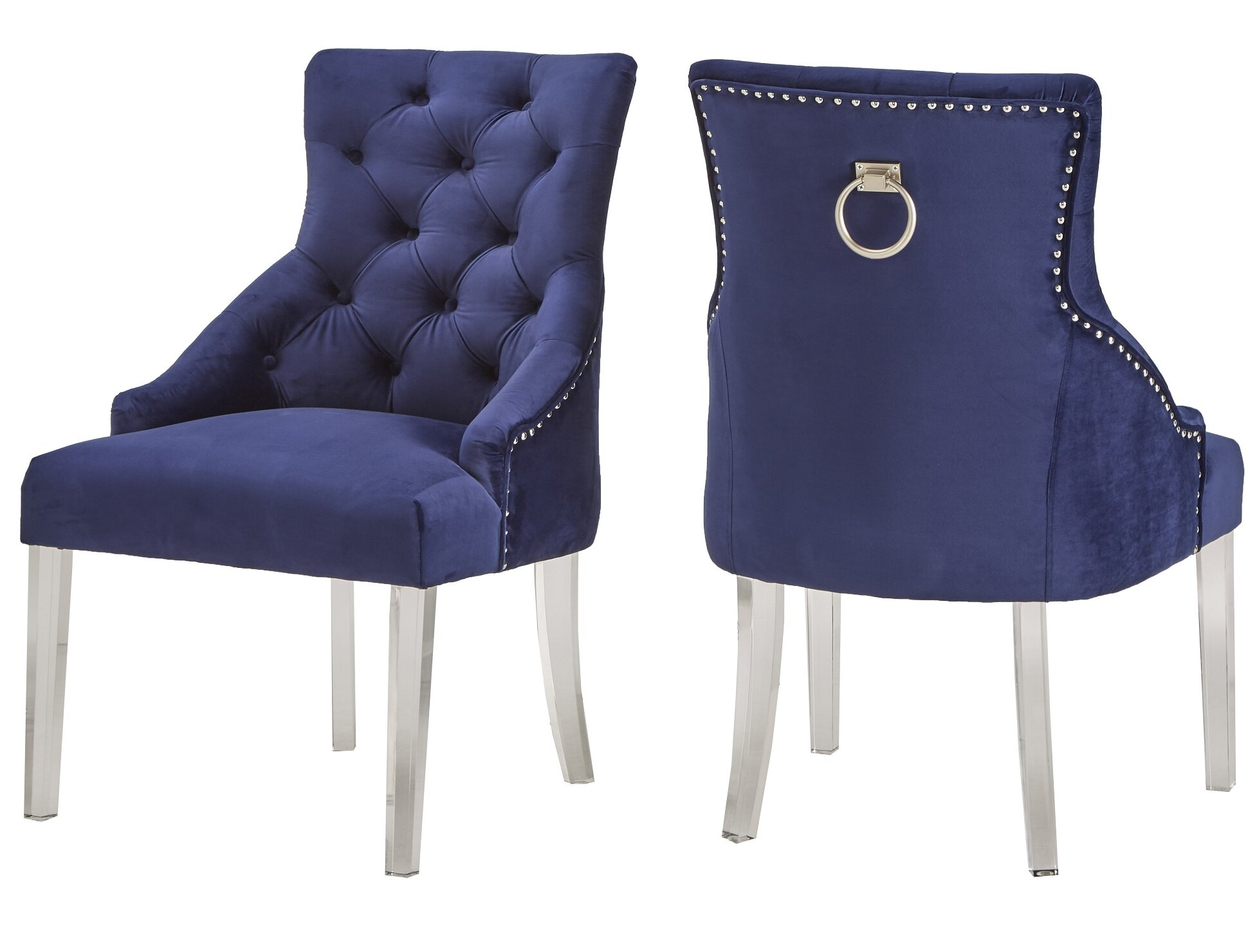 Picture of: Rosdorf Park Seville Upholstered Dining Chair Reviews Wayfair