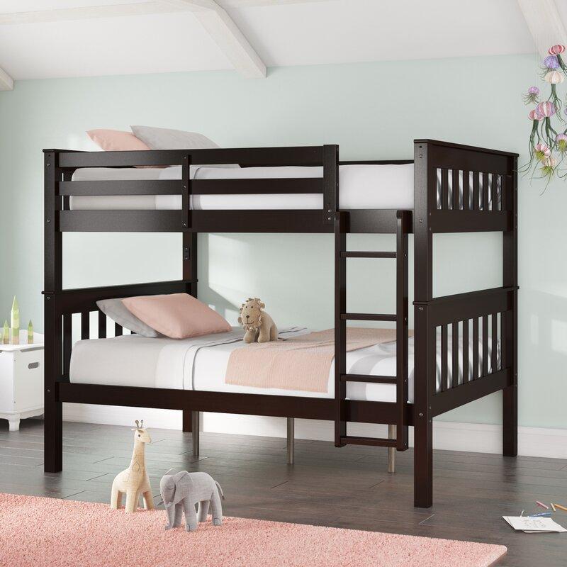 Harriet Bee Almedacheatham Full Over Full Bunk Bed Reviews Wayfair